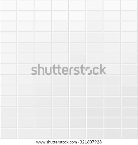 White tiled texture. - stock photo