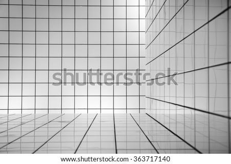 White tiles - stock photo