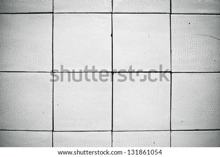 White tiles as a detailed background image - stock photo