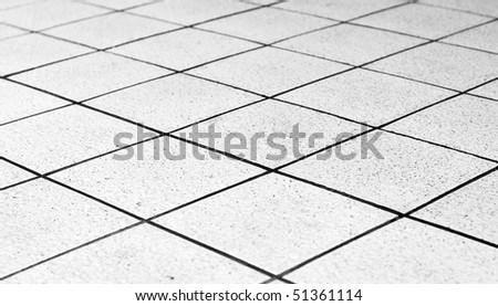 white Tiles ground - stock photo