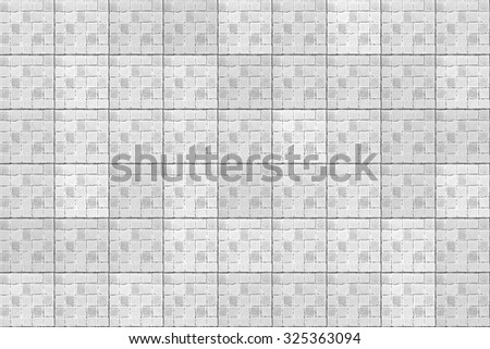 White tiles pattern background