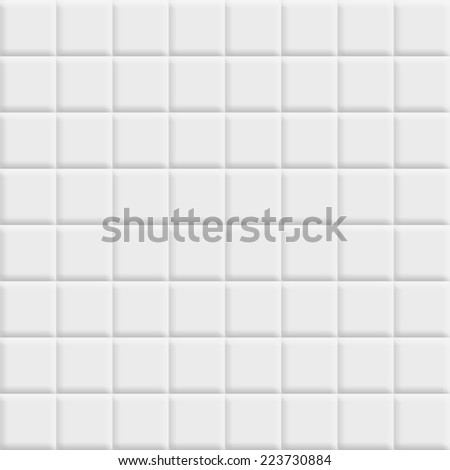 White tiles square texture - stock photo
