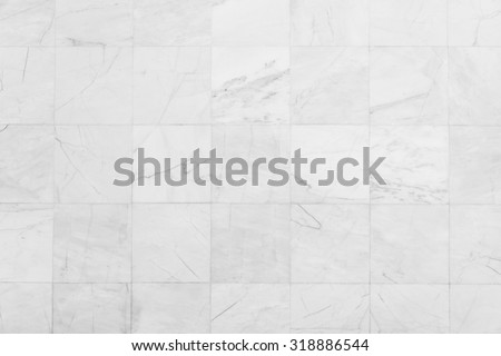 White tiles textures background - stock photo