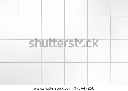 White tiles wall background