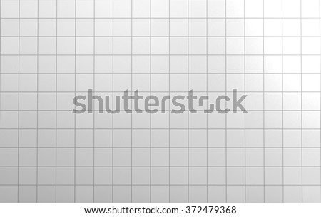 White tiles wall background texture rendering. - stock photo