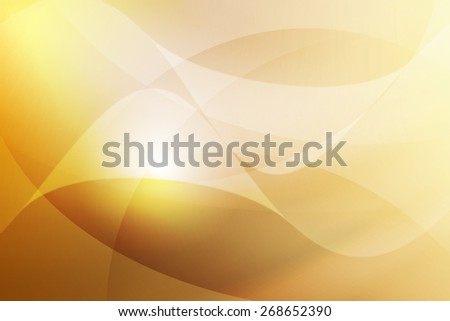 white to yellow gradient color with swirl line abstract background - stock photo