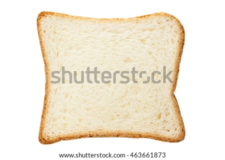 White toast bread cut isolated on a white background