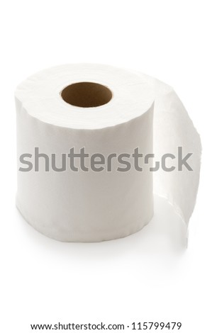 white toilet roll isolated