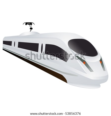 White train - stock photo