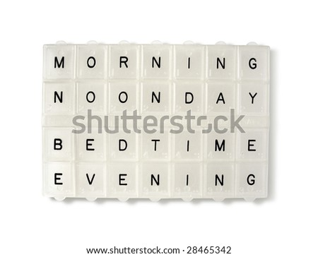 white transparent pillbox - stock photo