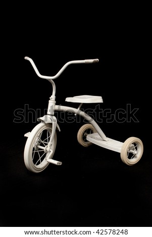 White Trike - stock photo