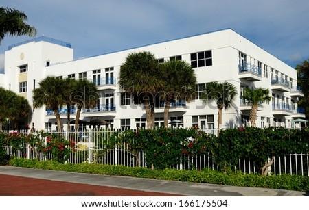 White Tropical Condominium Building - stock photo