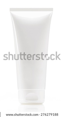 White tube isolated on white - stock photo