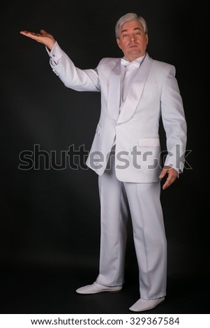 white tuxedo male businessman