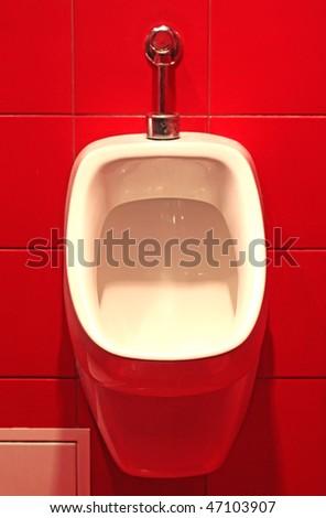 White urinal - stock photo