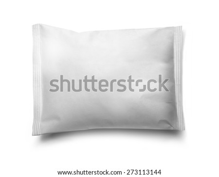white vacuum food packaging