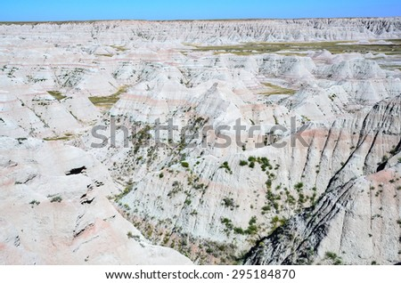 White Valley at Badlands National Park - stock photo