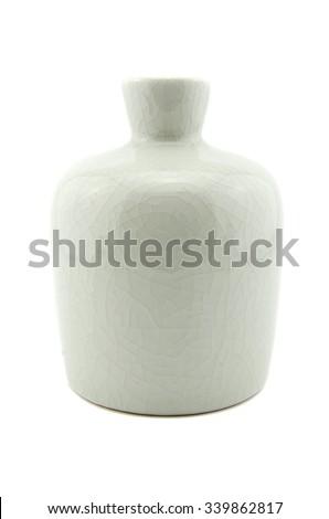 White vase isolated on white