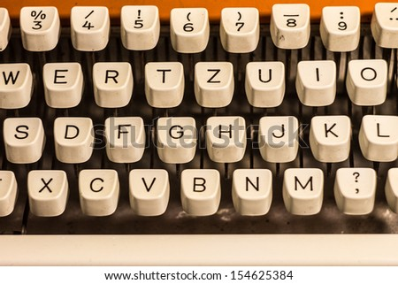 White vintage typewriter keys