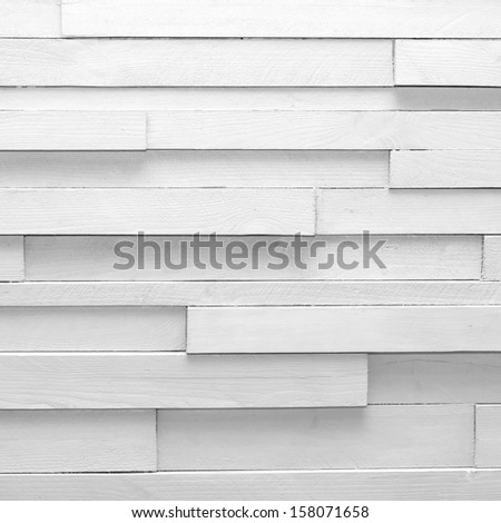 White vintage wooden background or texture - stock photo