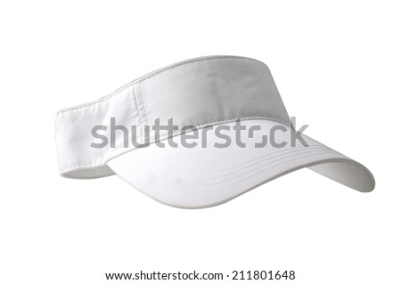 White visor on white background - stock photo