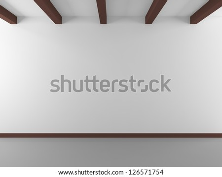 white wall and white floor - stock photo