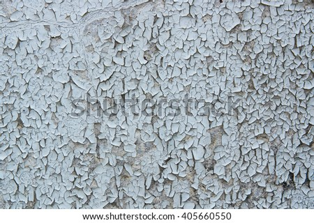 White wall paint blistering - stock photo