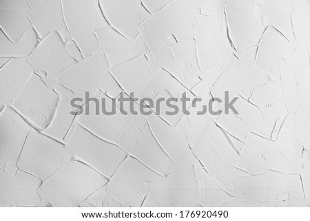 white wall stucco plaster texture, background with right angles  - stock photo