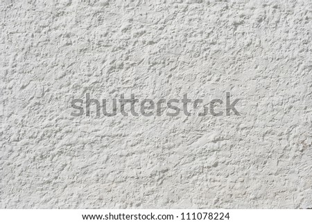 White wall stucco texture - stock photo