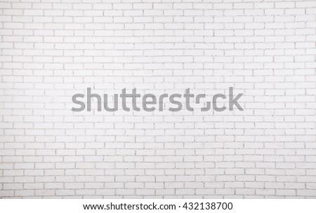 White wall texture of brick - stock photo