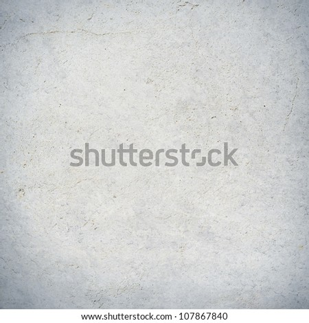 white wall texture with vignette, grunge background - stock photo