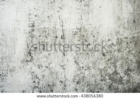white walls are old, dirty, rough, black stains Filled with smudges of color decay. abstract background. - stock photo