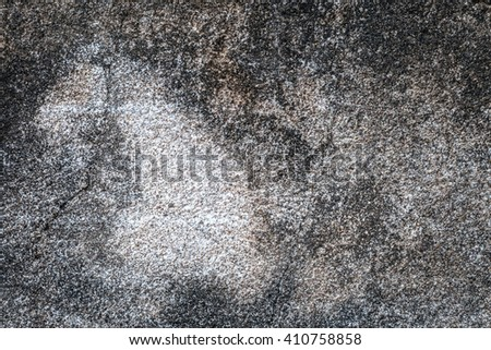 White walls are textured black dirt stains. - stock photo