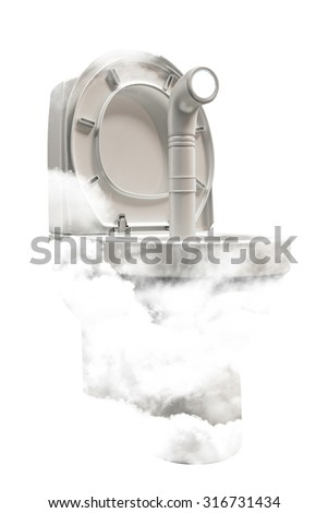 white water closet isolated on white background