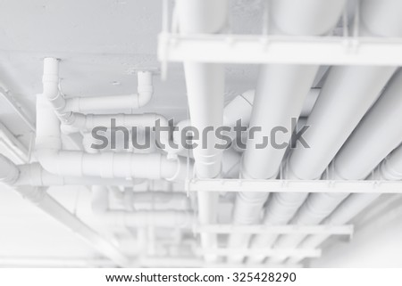 white water pipe, safety pipe system, clean water pipe concept - stock photo