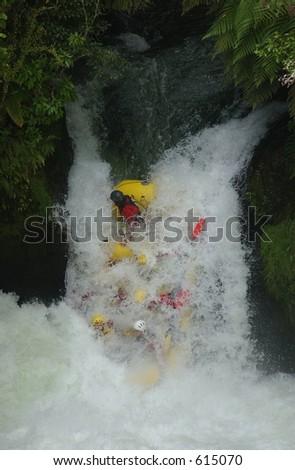 White Water Rafting5 - stock photo