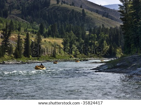 White Water Rafting the Snake River near Alpine, Wyoming