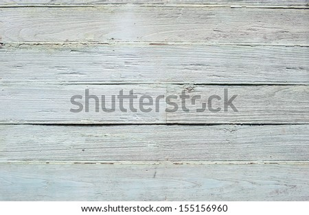 White weathered painted wooden plank background - stock photo
