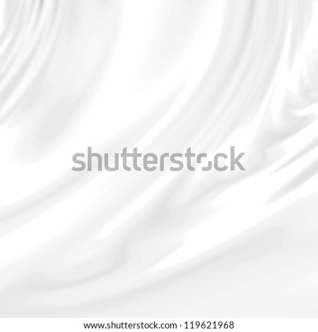 White wedding background with silk, satin or cloth folds and drapes - stock photo