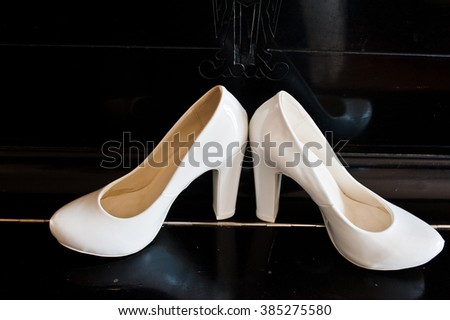 Pair Pointe Shoes On Blue Background Stock Photo 385764433 ...