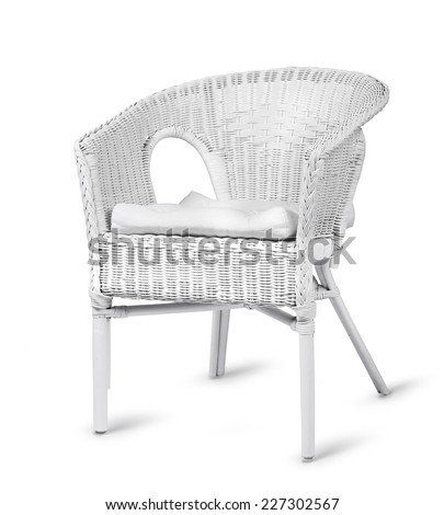 white wicker chair isolated on white background - White Wicker Chair