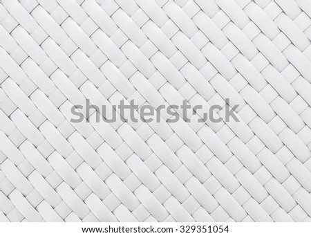 white wicker pattern for background - stock photo