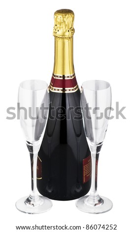 White wine for a good celebrations - stock photo
