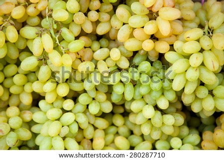 White wine grapes in a market - stock photo