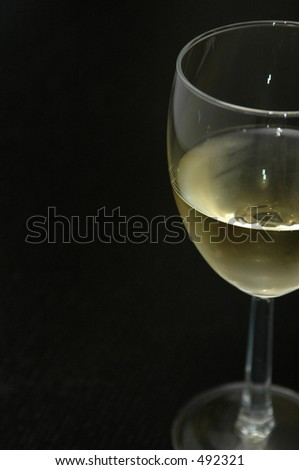 White Wine in a Glass - stock photo