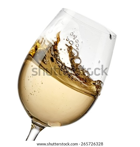 White wine plash - stock photo