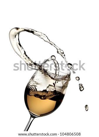 White wine up - stock photo