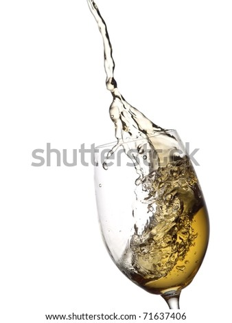 White wine up with bubbles - stock photo