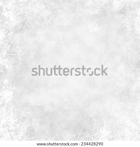 White winter background - stock photo