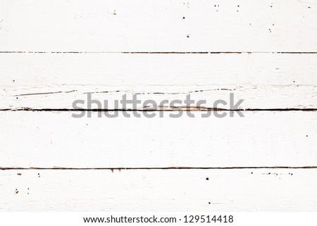 White wood background - stock photo